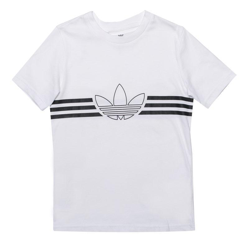 Tričko Adidas Originals Junior Boys Outline T-Shirt White Black