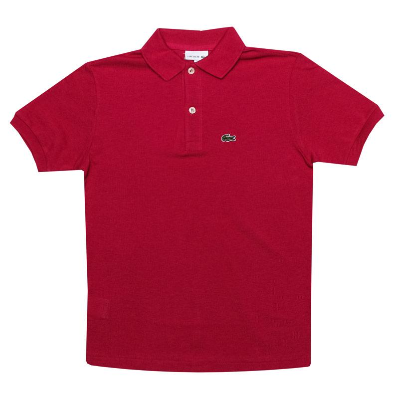 Tričko Lacoste Junior Boys Polo Shirt Cerise