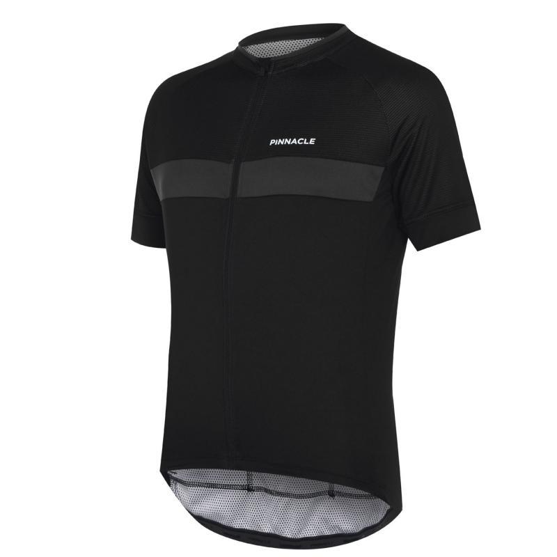 Pinnacle Race Short Sleeve Cycling Jersey Mens Black/White