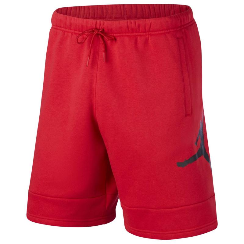 Air Jordan Jordan Fleece Shorts Mens GYM RED/GYM RED/BLACK