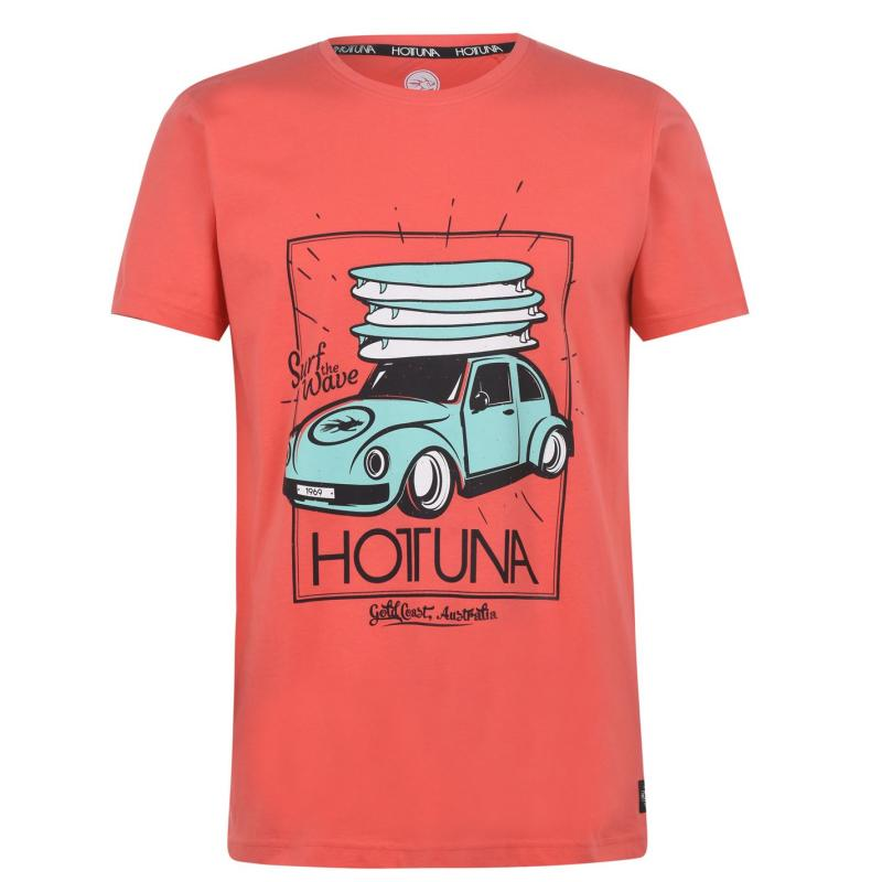Tričko Hot Tuna Crew T Shirt Mens Red Car