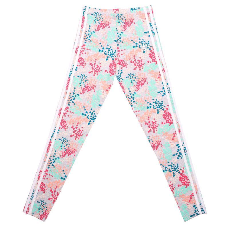 Adidas Originals Junior Girls Flower Leggings Multi colour
