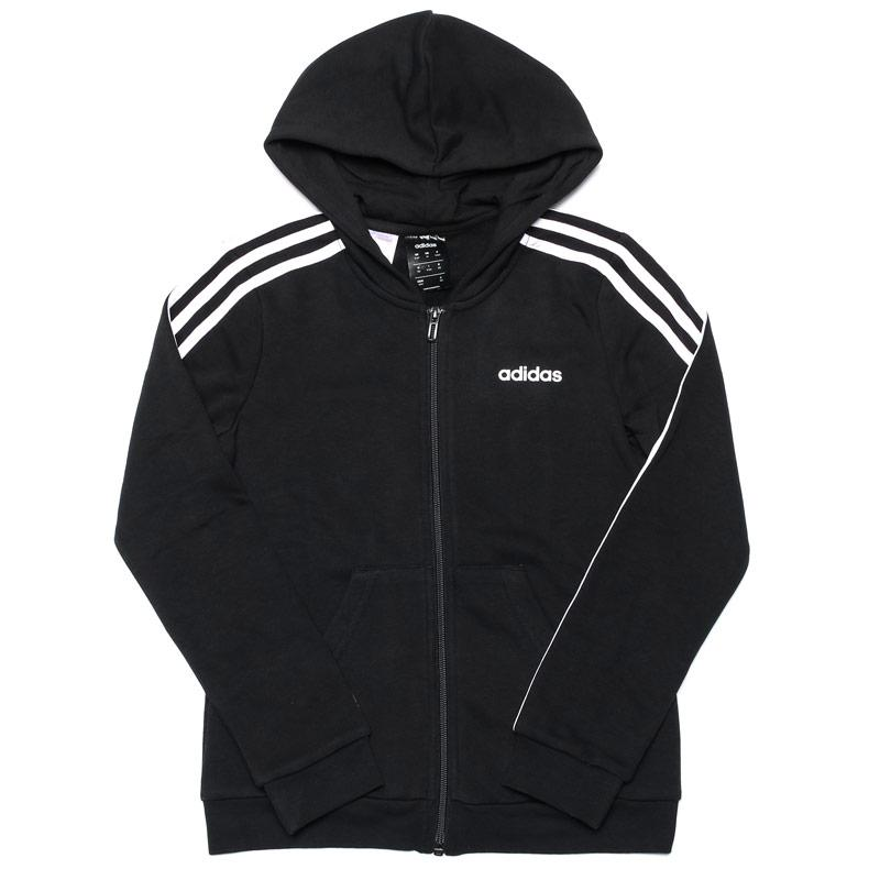 Adidas Infant Girls 3-Stripes Zip Hoody Black-White