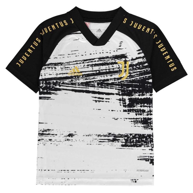 Adidas Juventus Pre Match Shirt 2020 2021 Junior White/Black