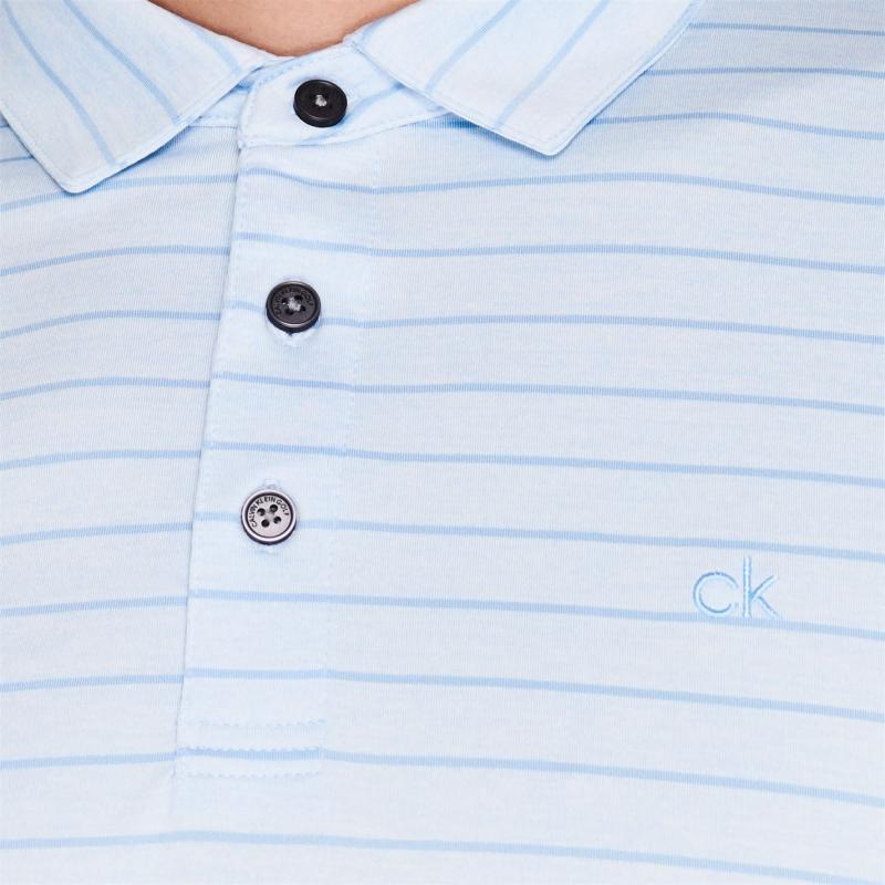 Calvin Klein Golf Splice Polo Shirt Dusty Blue