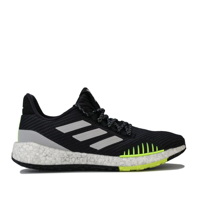 Adidas Mens Pulseboost HD Winter Running Shoes Black Grey