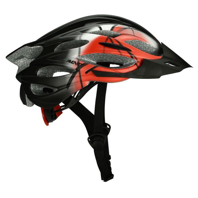 Avento Cispia Cycling Helmet Black/Red