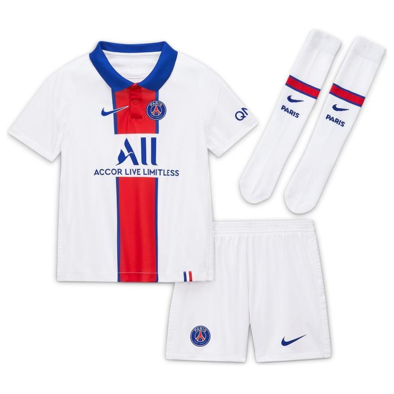 Nike Paris Saint Germain Away Mini Kit 2020 2021 White