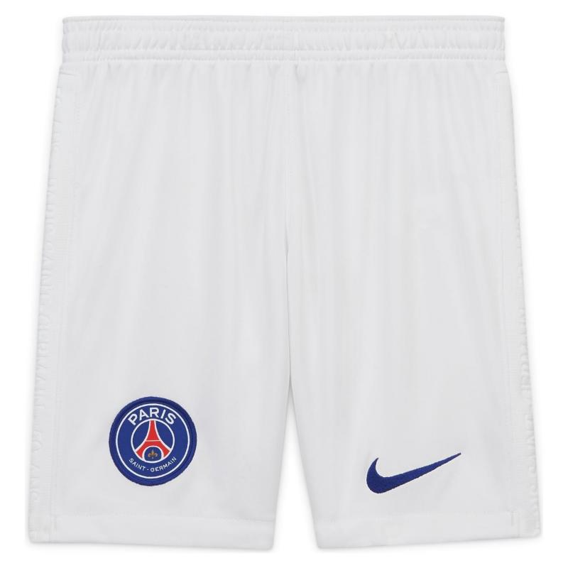 Nike Paris Saint Germain Away Shorts 2020 2021 Junior White