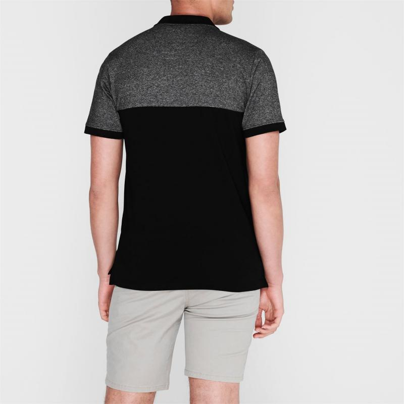 Pierre Cardin Marl Polo Shirt Mens Black