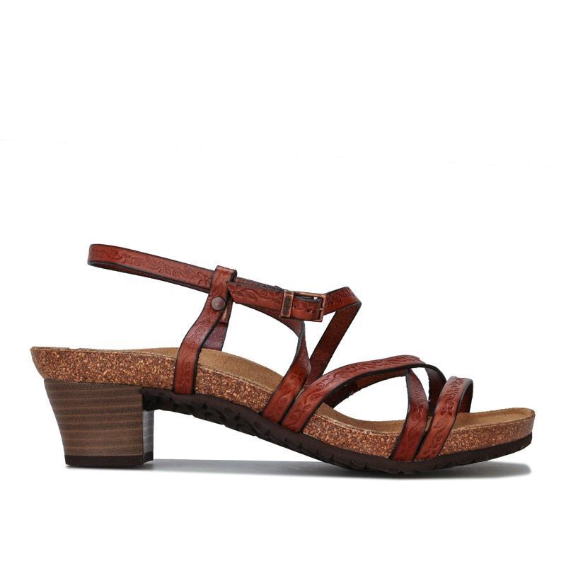 Boty Papillio Womens Bella Leather Sandals Narrow Width Brown