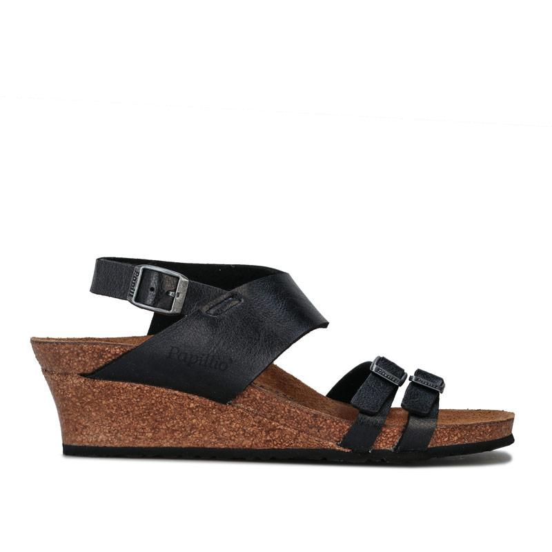 Boty Papillio Womens Ellen Wedge Sandals Narrow Width Black