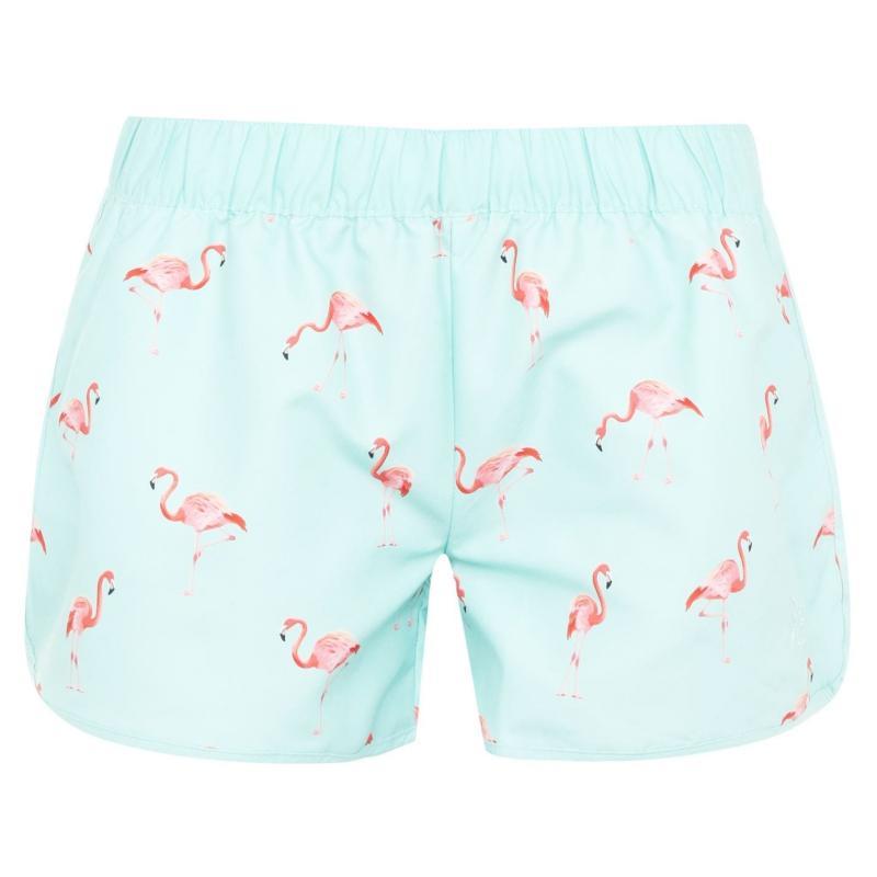 Hot Tuna Swim Shorts Ladies Flamingo