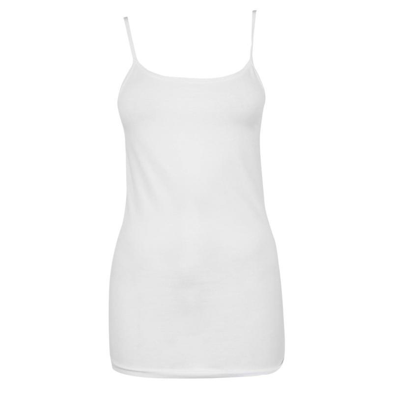 Miso Long Length Cami Vest Womens White