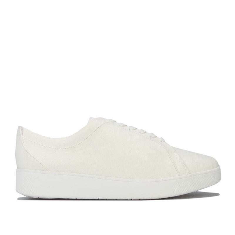 Fit Flop Womens Rally Denim Trainers White