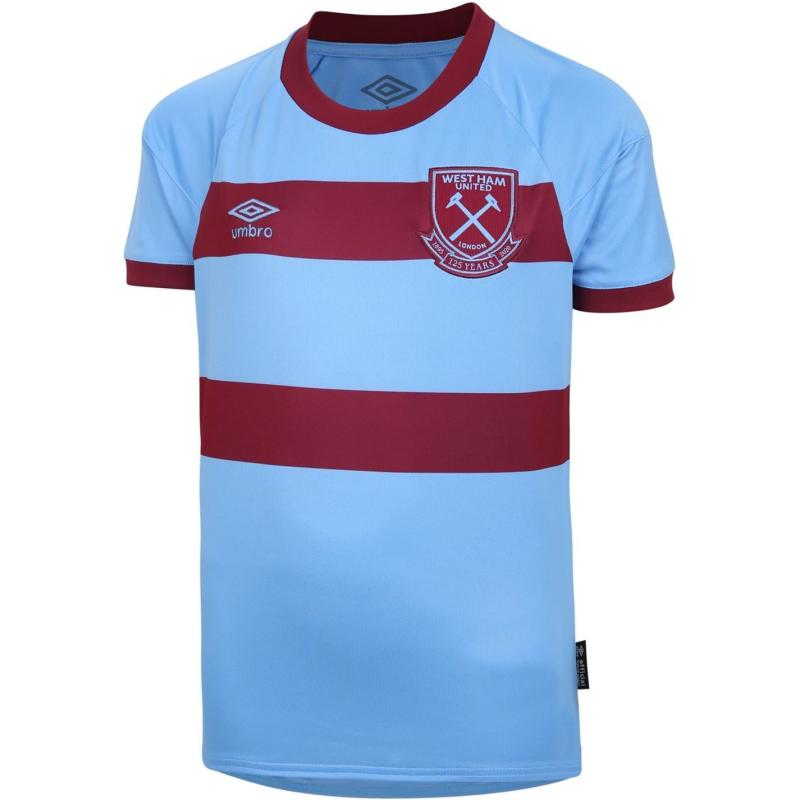Umbro West Ham United Away Shirt 2020 2021 Junior Sky/Claret