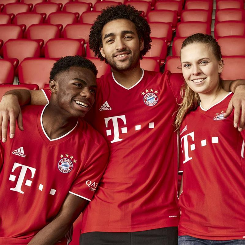 Adidas Bayern Munich Home Shirt 2020 2021 Red