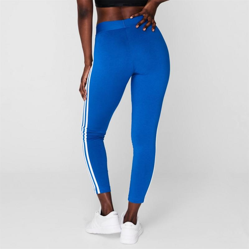 Legíny adidas Womens Essentials 3-Stripes Leggings Blue/White