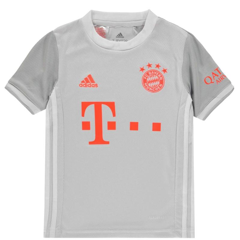 Adidas Bayern Munich Away Shirt 2020 2021 Junior Grey