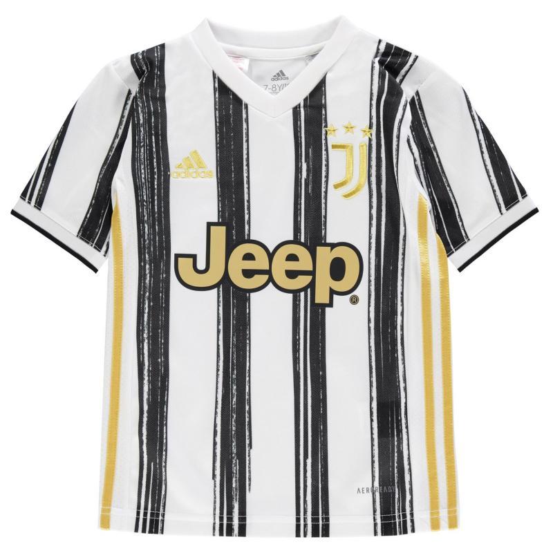 Adidas Juventus Home Shirt 2020 2021 Junior White/Black