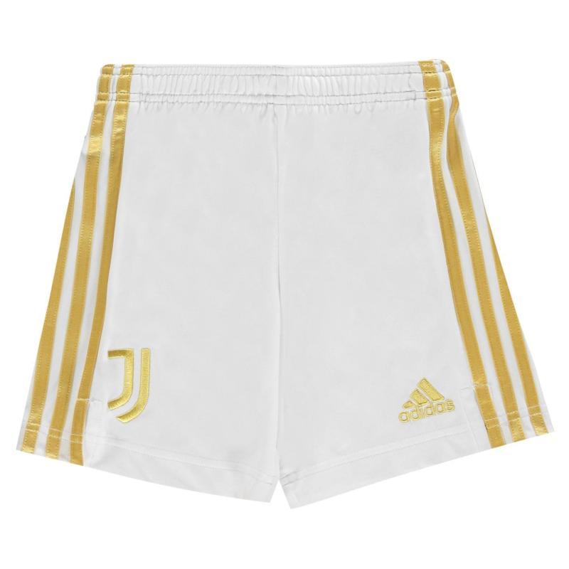 Adidas Juventus Home Shorts 2020 2021 Junior White