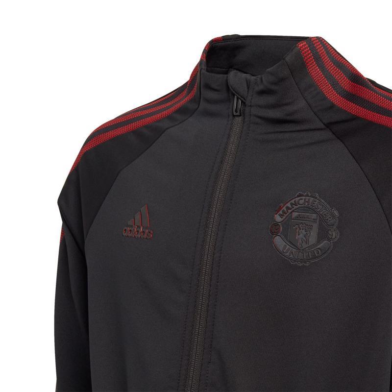 Adidas Manchester United Anthem Jacket 2020 2021 Junior Black/Red