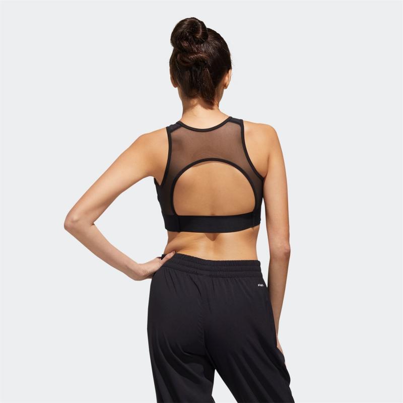 Spodní prádlo adidas UC Bra Top Ladies Black / White / Signal Pink /