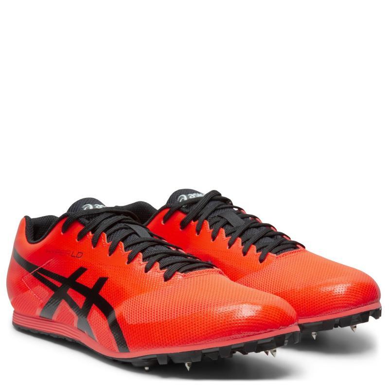 Asics Hyper 6 LD Mens Track Shoes Red/Black