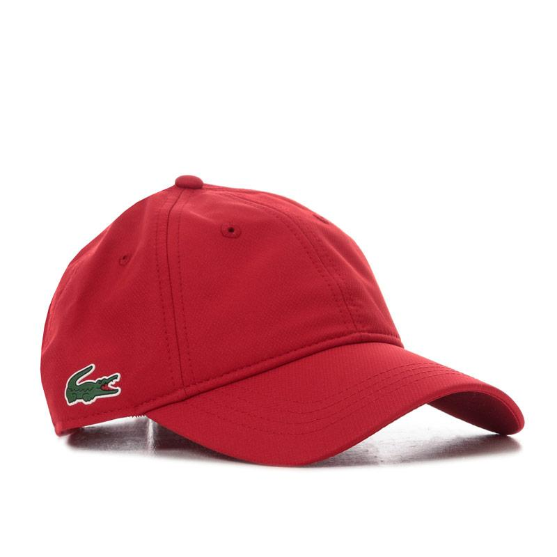 Lacoste Mens Baseball Cap Red