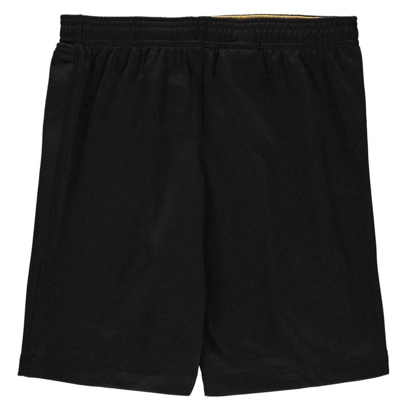 Nike Barcelona Away Shorts 2020 2021 Junior BLACK/METALLIC GOLD