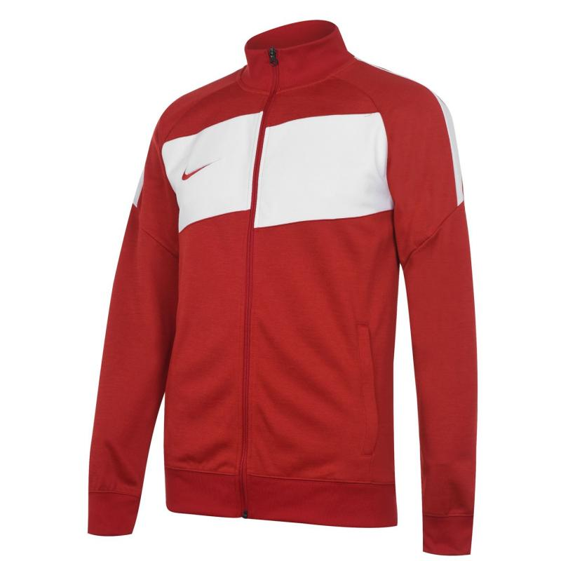 Nike Dri-FIT Academy Tracksuit Top Mens GYM RED/HTR/WHITE/WHITE