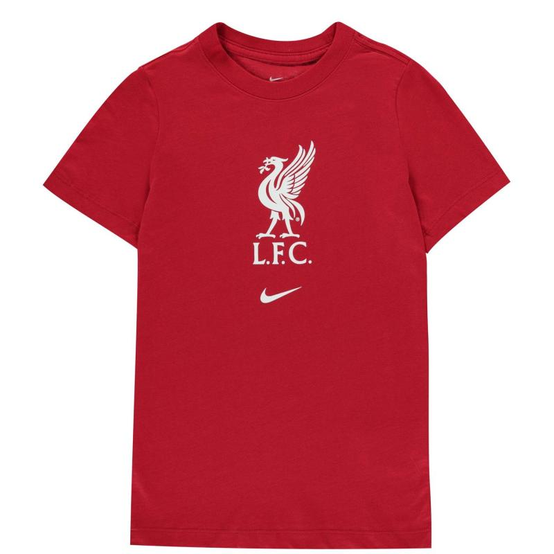 Nike Liverpool Crest T Shirt Junior GYM RED/WHITE