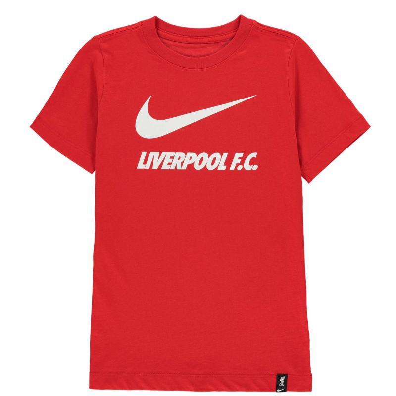 Nike Liverpool Swoosh T Shirt Junior UNIVERSITY RED