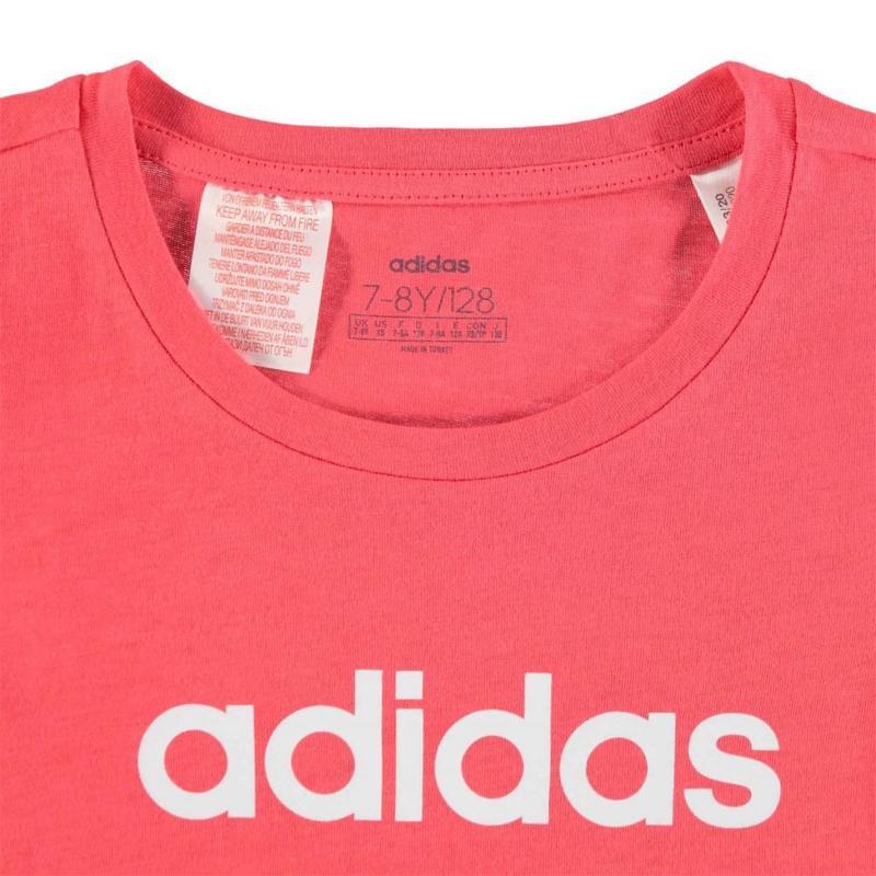 Adidas YG T-Shirt Junior Girls CorePink/White