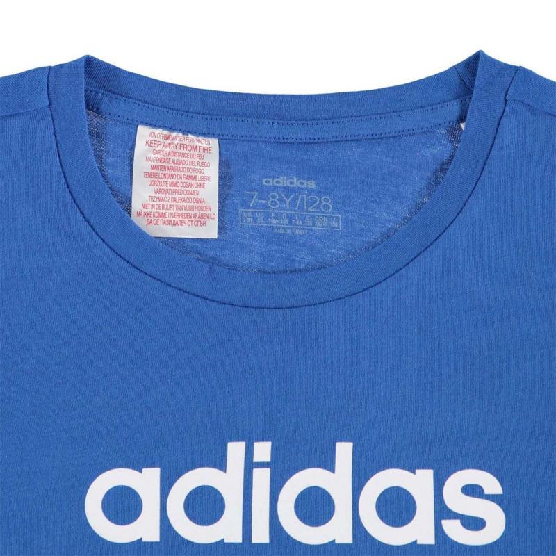 Adidas YG T-Shirt Junior Girls Blue/White