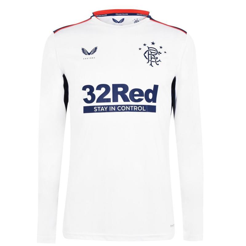Castore Rangers Away Long Sleeve Shirt 2020 2021 White