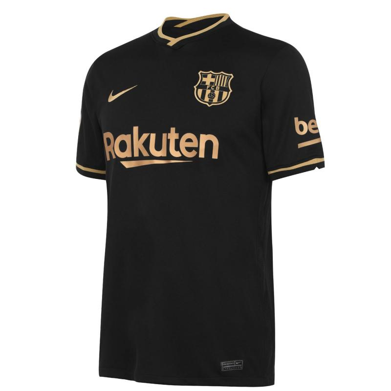 Nike Barcelona Away Shirt 2020 2021 BLACK/METALLIC GOLD