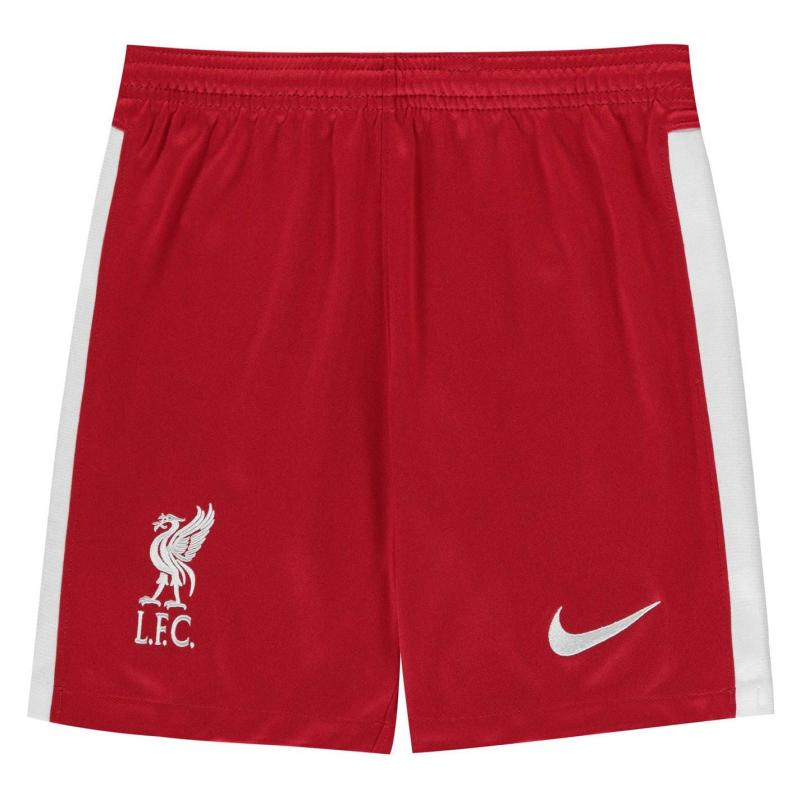 Nike Liverpool Home Shorts 2020 2021 Junior GYM RED/WHITE