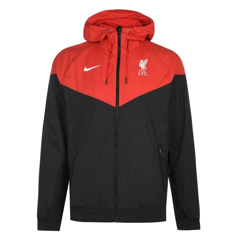 Nike Liverpool Wind Runner Jacket Mens BLACK/UNIVERSITY RED/WHITE
