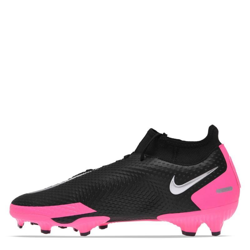 Nike Phantom GT Academy DF FG Football Boots BLACK/METALLIC SILVER-PINK BLA