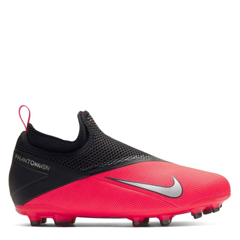 Nike Phantom VSN Academy Firm Ground Football Boots Juniors Red/Black
