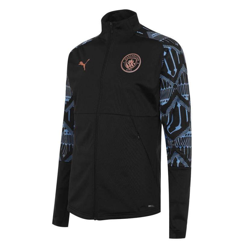 Puma Manchester City Stadium Jacket 2020 2021 Mens Black/Blue
