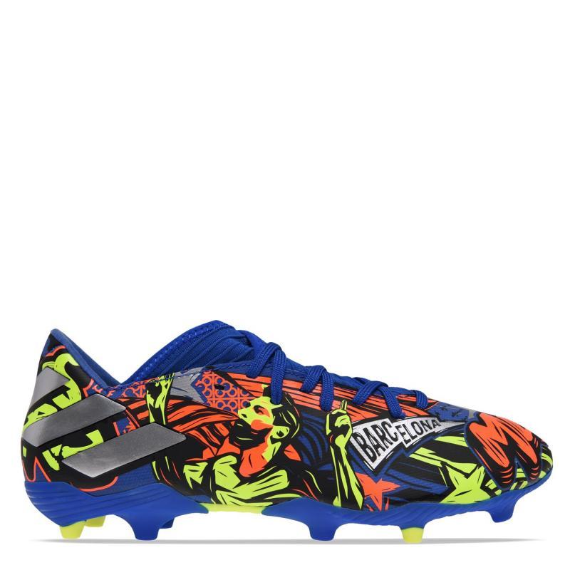 Adidas Nemeziz Messi 19.3 Mens FG Football Boots Blue/MetSilver