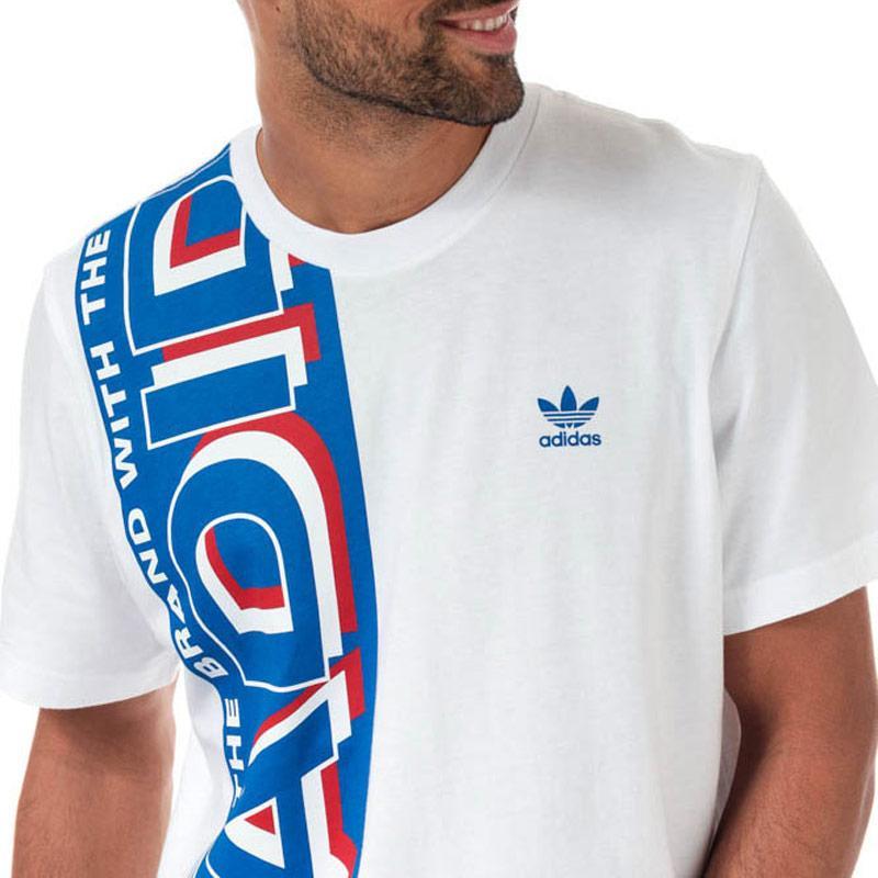 Tričko Adidas Originals Mens Side Scarf T-Shirt White blue