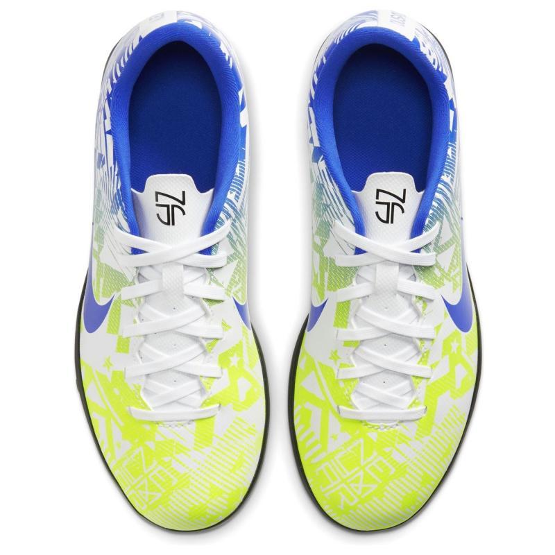 Nike Vapor 13 Astro Turf Football Boots Juniors White/Blue