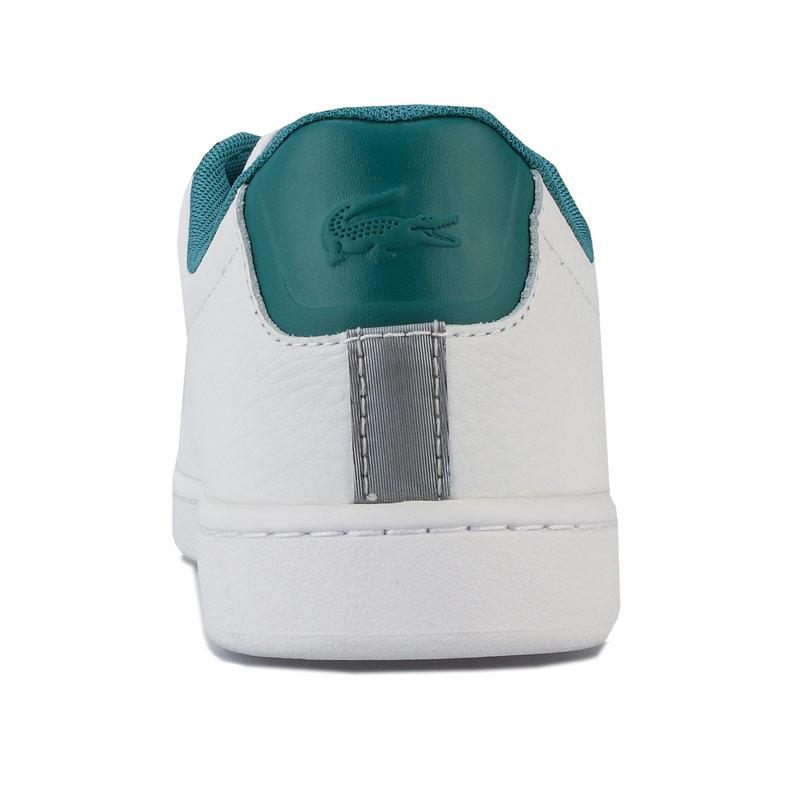Lacoste Womens Carnaby EVO 120 Trainers White Green