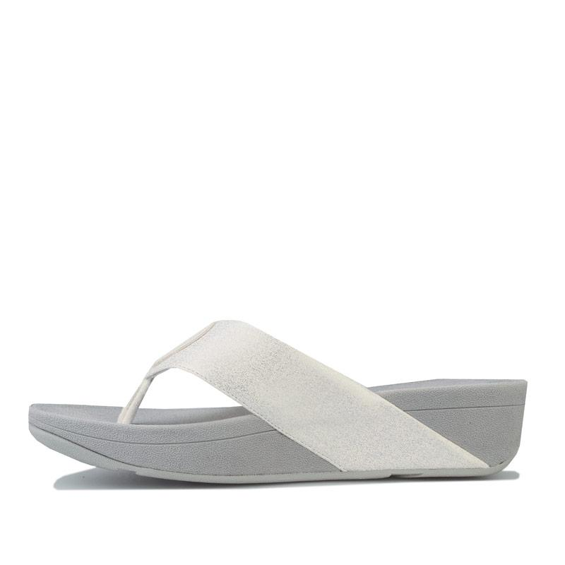Boty Fit Flop Womens Demelza Shimmer Toe Thong Sandals Silver