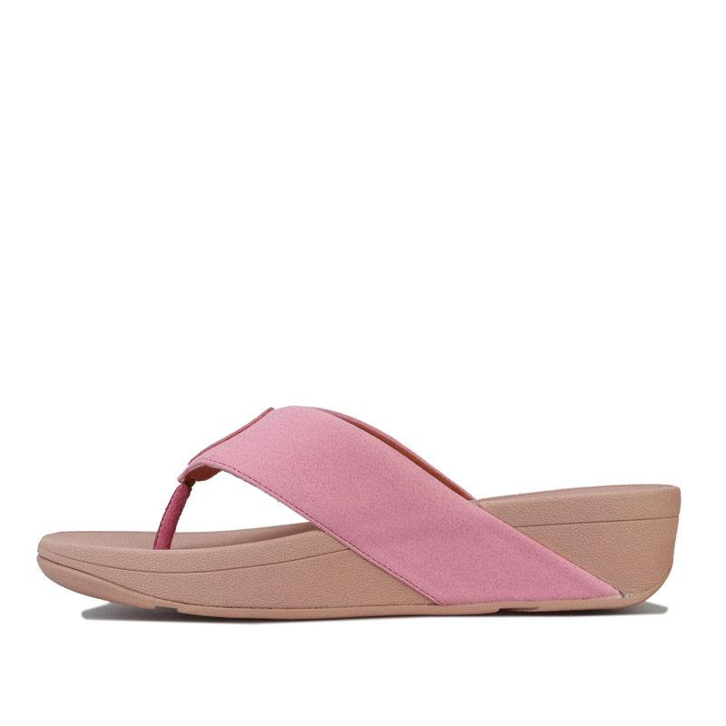 Boty Fit Flop Womens Demelza Shimmer Toe Thong Sandals Pink