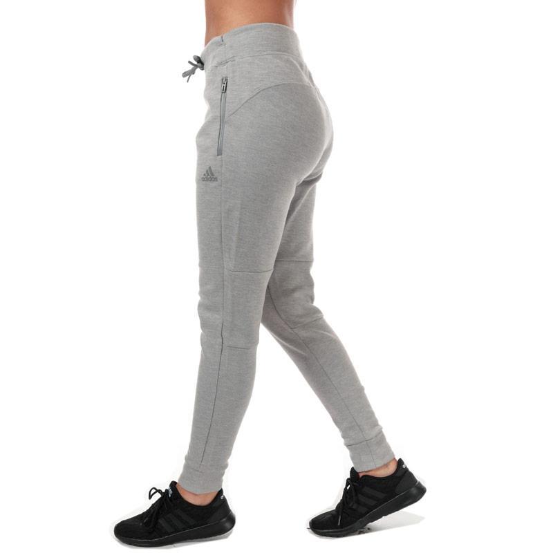 Adidas Womens ID Melange Jog Pants Grey Marl