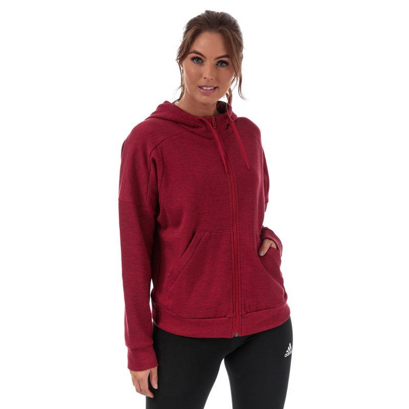 Mikina s kapucí Adidas Womens ID Melange Zip Hoody Burgundy
